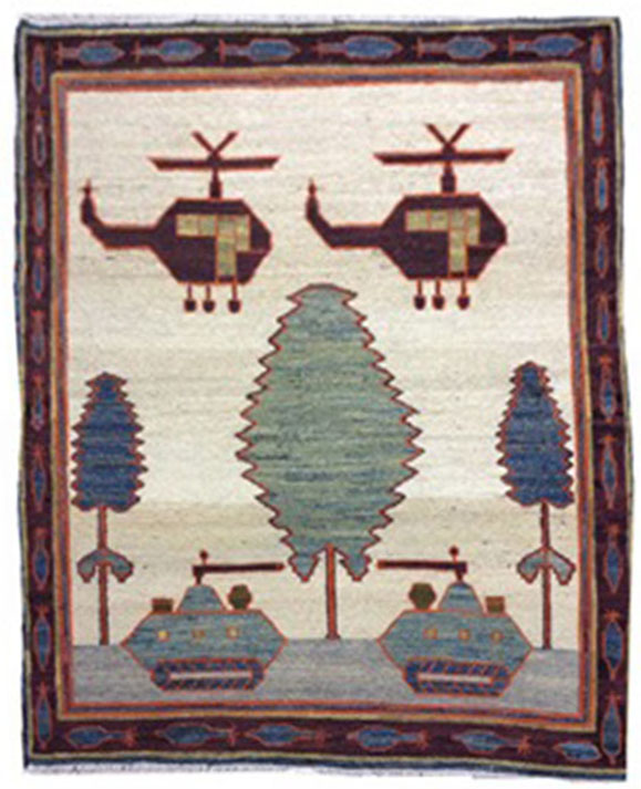 Baluch war carpet  4.3x3.8