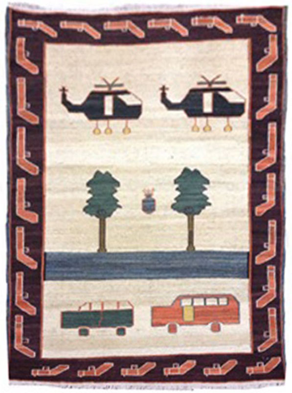 Baluch War Carpet  4x3.4