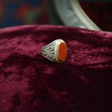 Silver Ring with carnelian stone